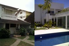 Antes e depois casa Barra da Tijuca - projeto Margareth Salles