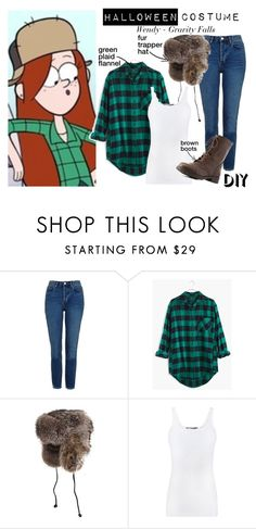 """""""Wendy Corduroy - Gravity Falls - HALLOWEEN COSTUME IDEA"""" by nerd-ville ❤ liked on Polyvore featuring Topshop, Madewell, Overland Sheepskin Co., Vince and Charlotte Russe"""