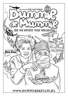 kleurplaat dummie de mummie dummie de mummie