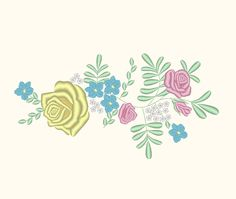 Cinderella Inspired Flowers Floral Skirt Design 3 Embroidery Machine Design by OCDEmbroidery on Etsy