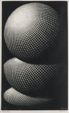 M. C. Escher:THREE SPHERES I