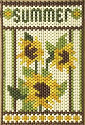Mini Beaded Banner and Bead Patterns for Sale at Craft Designs for You by Cherie Marie Leck Pony Bead Patterns, Peyote Patterns, Beading Patterns, Cross Stitch Patterns, Pony Bead Crafts, Seed Bead Crafts, Beaded Crafts, Tiny Cross Stitch, Beaded Banners