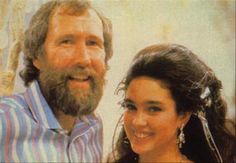 Jim Henson with Jennifer Connelly, an adorable behind the scenes photo taken during the filming of the ballroom scene.