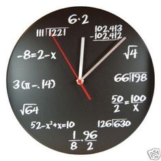 DCI POP Quiz Math Chalkboard Graph Paper Wall Clock | eBay