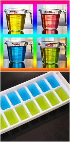 #DIY Rainbow Ice Cubes