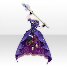 Night Steampunk Dancing Frill Dress ver.A purple Cartoon Outfits, Anime Outfits, Drawing Anime Clothes, Adventure Outfit, Anime Dress, Cocoppa Play, Fashion Design Drawings, Model Outfits, Frill Dress