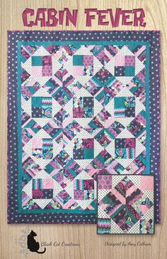 Lap and throw that uses scraps and precuts. Cabin Fever Quilt Pattern BCC-234 by Black Cat Creations - Amy Cotham.  Check out our applique quilt patterns. https://www.pinterest.com/quiltwomancom/applique-quilt-patterns/  Subscribe to our mailing list for updates on new patterns and sales! http://visitor.constantcontact.com/manage/optin?v=001nInsvTYVCuDEFMt6NnF5AZm5OdNtzij2ua4k-qgFIzX6B22GyGeBWSrTG2Of_W0RDlB-QaVpNqTrhbz9y39jbLrD2dlEPkoHf_P3E6E5nBNVQNAEUs-xVA%3D%3D
