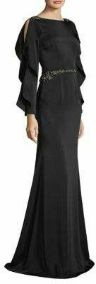 Black vintage style gown, #Sponsored.