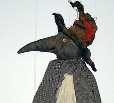 Bridget A Folk Art Crow Witch Pattern by thegoodewife on Etsy