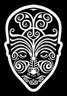 maori face tattoo  Stock Vector