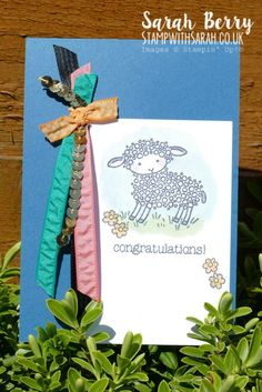 Farewell to Easter Lamb you're so cute! Sarah Berry, Easter Lamb, Love Stamps, Baby Cards, Stampin Up, Card Ideas, Congratulations, Greeting Cards, Paper Crafts