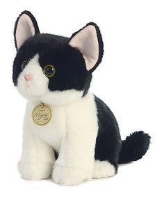 Another great find on #zulily! 9'' Black & White Tuxedo Kitten Plush Toy #zulilyfinds