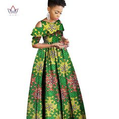 Sleeve Style: Off the Shoulder Dresses Length: Ankle-Length Estimated Delivery Attention: Size may be inch inaccuracy due to hand measure; Models are for reference only, Color may Ankara Maxi Dress, African Maxi Dresses, Ankara Dress Styles, African Fashion Ankara, Latest African Fashion Dresses, African Dresses For Women, African Print Fashion, African Attire, African Print Dress Designs