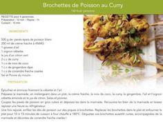 Brochettes de Poisson au Curry