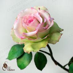 Роза из фоамирана по мастер-классу Альбины Насыровой