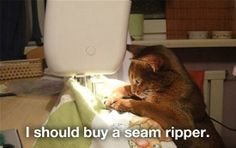 I should remember this, next time I can't find my seam ripper.