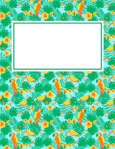 Free printable tropical binder cover template. Download the cover in JPG or PDF format at http://bindercovers.net/download/tropical-binder-cover/