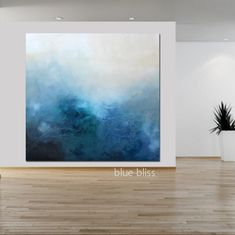 Neutral Canvas Art, Neutral Art, Large Canvas Art, Blue Canvas, Abstract Art For Sale, Abstract Wall Art, Abstract Designs, Blue Abstract, Abstract Painting Techniques