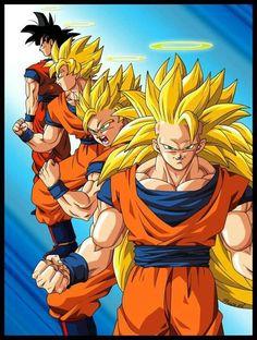 Saiyan Stages of Goku