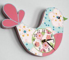 Set of 4 Love Birds Girls Bedroom and Baby Nursery por ToadAndLily