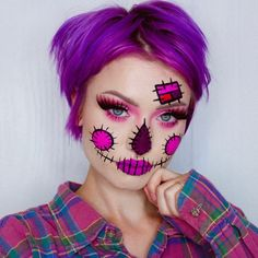 (notitle) - halloween makeup - Halloween MakeUp and Kostume Halloween Makeup Artist, Scarecrow Makeup, Halloween Makeup Looks, Halloween Tags, Easy Halloween, Halloween Costumes, Makeup Artist Jobs, Makeup 2018, Make Up Art