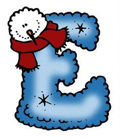SGBlogosfera. María José Argüeso: ABECEDARIO INVERNAL Alphabet Writing, Alphabet And Numbers, Christmas Alphabet, Build A Snowman, Smurfs, Clip Art, Drawings, Illustration, Snowmen