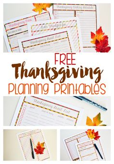 Free Thanksgiving printables for planning your holiday. Menu planner, guest list, and more to get your Turkey Day organized!