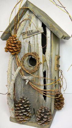 Bird House Rustic Cheep Housing Bird House 345