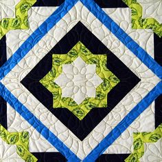 """Crossroads"" square block from C&T Publishing's book ""Flip & Fuse Quilts"" by Marcia Harmening of Happy Stash Quilts"