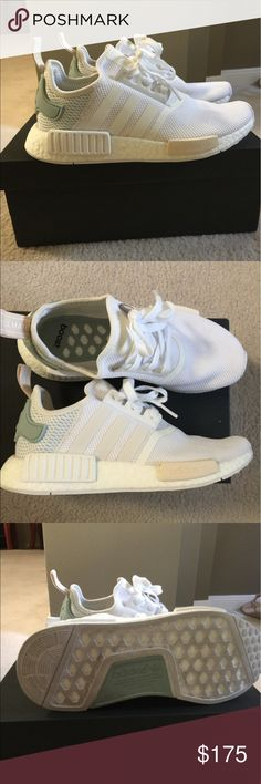 f8c0df379d6dcf Adidas NMDs in white. Adidas NMDs in white. Worn 2x. Comes with original