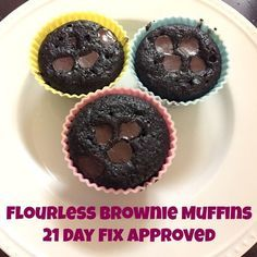 Flourless Brownie Muffins - 21 Day Fix Approved