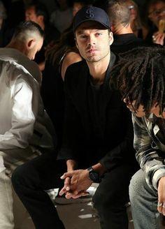 Sebastian Stan Attends Todd Snyder Fashion Show at New York Fashion Week     //Pinterest & Tumblr: aloraphernelia//
