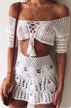 Excited to share this item from my shop: Crochet Boho Top and Skirt, Beachwear, Festival Clothing . # crochet fashion Crochet Boho Top and Skirt, Beachwear, Festival Clothing . Bikinis Crochet, Crochet Skirts, Crochet Clothes, Diy Clothes, Crochet Outfits, Beach Crochet, Crochet Skirt Outfit, Crochet Summer, Crochet Blouse
