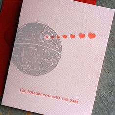 Geeky Valentines Day Cards #starwars #deathstar