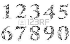 calligraphy numbers 0-9 - Google Search