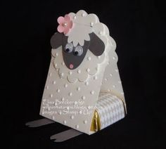 Punch art Easter Lamb candy holder / Papercraft - Juxtapost
