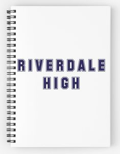 'Riverdale - Riverdale High' Spiral Notebook by ripebananabunch Riverdale Book, Riverdale Quiz, Riverdale Merch, School Supplies, Desk Supplies, Easy At Home Workouts, 14th Birthday, Birthday Wishlist, Notebooks