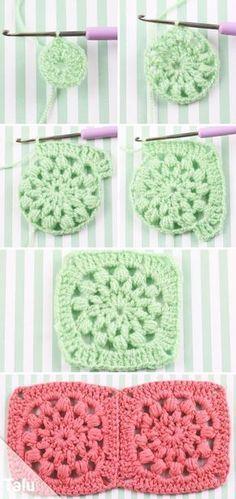 Granny Square Hakeln Im Quadrat Kostenlose Pdf Anleitung Talu De In 2021 Granny Square Crochet Crochet Square Granny Squares Pattern