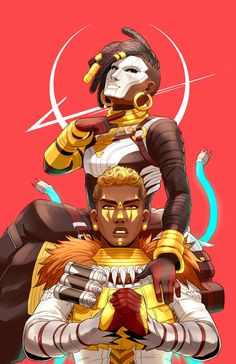 Lifeline and Bangalore by xuuato // Apex Legends Wallpaper Cars, Character Art, Character Design, Warframe Art, Little Bit, The Revenant, Fan Art, Video Game Characters, Video Game Art