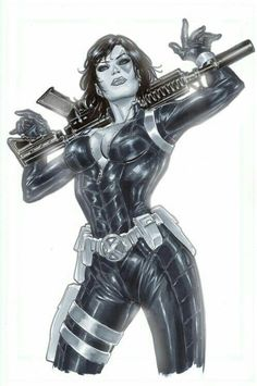 Domino from X-Force and The Marvel Comic Universe. Domino Marvel, Domino Comics, Arte Dc Comics, Marvel X, Marvel Heroes, Comic Book Characters, Comic Book Heroes, Marvel Characters, Comic Character