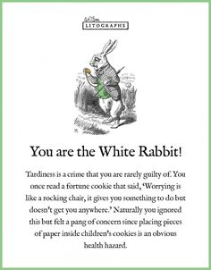Not what I was expecting but uncomfortably accurate | Which Alice In Wonderland Character are you?