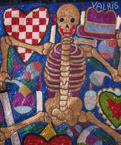 Vodou flags and veve are mesmerizing works of art.