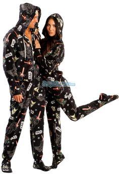 Star Wars Dark Side Footed Pajamas