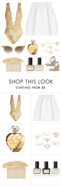 """golden summer"" by im-karla-with-a-k ❤ liked on Polyvore featuring Coco de Mer, malo, Elizabeth Arden, Charlotte Russe, Accessorize and Balmain"