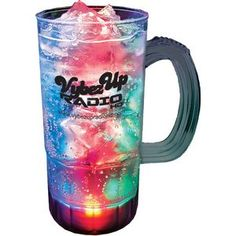 #22Oz. 3 #LED Lighted Fluted #Mug #Event #Drinkware #Giveaway #PartyFavor #Branded