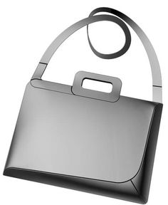 Futuristic Luggage  Sleek, Space-Age Bags and Briefcases by Jerome Olivet; laptop bag PVC