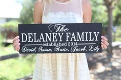 Personalized Family Sign 2 (900024)