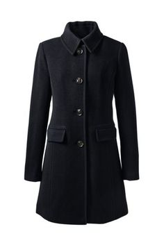 Women's Insulated Wool Car Coat from Lands' End IN CAMEL