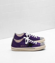 https://www.goldengoosesneakers.fr/  456 : Golden Goose V Star 2 Sneakers Femme GGDB Glitter VioletijzQmz