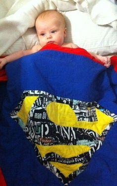 superman quilt | Superman quilt! | SuperMan